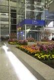 Decoración del Año Nuevo en el aeropuerto internacional de Hong-Kong Foto de archivo