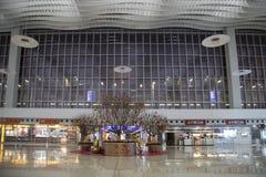 Decoración del Año Nuevo en el aeropuerto internacional de Hong-Kong Fotografía de archivo libre de regalías