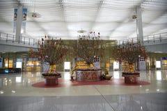 Decoración del Año Nuevo en el aeropuerto internacional de Hong-Kong Imágenes de archivo libres de regalías