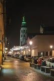 Decoración del Año Nuevo en la calle en Kraków Imagen de archivo libre de regalías