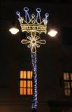 Decoración del Año Nuevo en la linterna Foto de archivo libre de regalías
