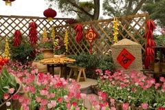 Decoración del Año Nuevo en la montaña de Nanning Qinxiu Fotos de archivo
