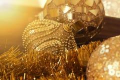 Decoración del Año Nuevo Ornamentos de la Navidad, decoración de la Navidad Fotografía de archivo