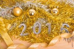 Decoración del Año Nuevo, primer 2016 Imágenes de archivo libres de regalías