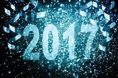 Decoración del Año Nuevo, primer en fondos de oro Foto de archivo