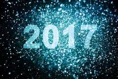 Decoración del Año Nuevo, primer en fondos de oro Imagen de archivo libre de regalías