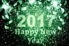 Decoración del Año Nuevo, primer en fondos de oro Fotos de archivo libres de regalías