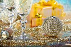Decoración del Año Nuevo y de la Navidad Imagen de archivo libre de regalías