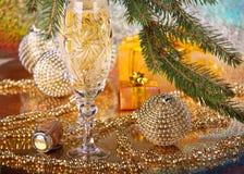 Decoración del Año Nuevo y de la Navidad Fotografía de archivo