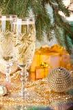 Decoración del Año Nuevo y de la Navidad Fotos de archivo