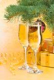 Decoración del Año Nuevo y de la Navidad Imagenes de archivo
