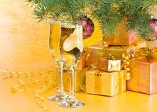 Decoración del Año Nuevo y de la Navidad Foto de archivo