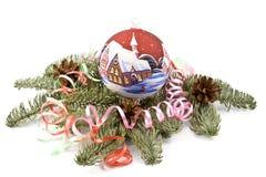 Decoración del Año Nuevo y de la Navidad Imágenes de archivo libres de regalías