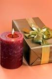 Decoración del Año Nuevo y de la Navidad con encendido Fotografía de archivo