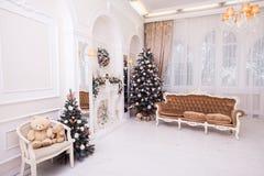 Decoración del Año Nuevo y de la Navidad del invierno Foto de archivo libre de regalías