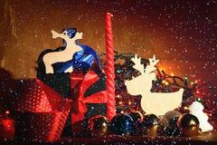 decoración del año y de la Navidad Imagen de archivo