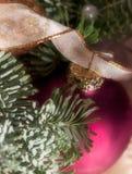 Decoración del advenimiento de la chuchería de la Navidad Imágenes de archivo libres de regalías