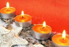 Decoración del advenimiento en naranja Imagenes de archivo
