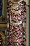 Decoración del altar en la basílica del corazón sagrado de Jesús en Zagreb imágenes de archivo libres de regalías