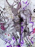 Decoración del arte abstracto Fotografía de archivo libre de regalías