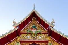 Decoración del arte en la azotea del templo Imágenes de archivo libres de regalías