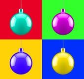 Decoración del arte pop de la Navidad Imágenes de archivo libres de regalías