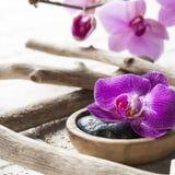 Decoración del balneario del zen para el alcohol del ayurveda Fotografía de archivo libre de regalías