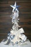 Decoración del blanco de la Navidad Imagenes de archivo