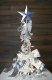 Decoración del blanco de la Navidad Foto de archivo