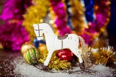 Decoración del caballo del árbol de navidad Fotografía de archivo