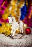 Decoración del caballo del árbol de navidad Fotos de archivo libres de regalías
