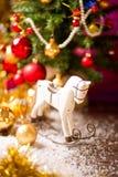 Decoración del caballo del árbol de navidad Imagen de archivo libre de regalías