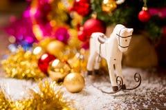 Decoración del caballo del árbol de navidad Foto de archivo