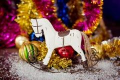 Decoración del caballo del árbol de navidad Imagen de archivo