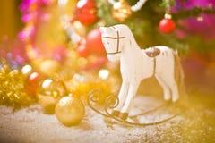 Decoración del caballo del árbol de navidad Foto de archivo libre de regalías