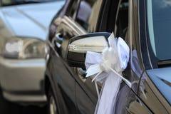 Decoración del coche para una boda Fotos de archivo libres de regalías