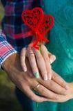 Decoración del corazón Imágenes de archivo libres de regalías