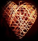 Decoración del corazón del alambre Fotos de archivo libres de regalías