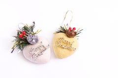Decoración del corazón de la Navidad Fotos de archivo libres de regalías
