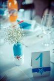 Decoración del día de boda Fotos de archivo libres de regalías