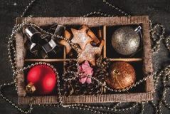 Decoración del día de fiesta de la Navidad y del Año Nuevo Fotografía de archivo libre de regalías