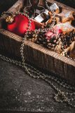 Decoración del día de fiesta de la Navidad y del Año Nuevo Imágenes de archivo libres de regalías