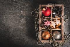 Decoración del día de fiesta de la Navidad y del Año Nuevo Fotografía de archivo