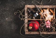 Decoración del día de fiesta de la Navidad y del Año Nuevo Imagenes de archivo