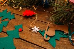 Decoración del día de fiesta La Navidad y Año Nuevo Fotos de archivo