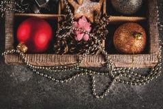 Decoración del día de fiesta de la Navidad y del Año Nuevo Foto de archivo