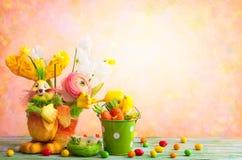 Decoración del día de fiesta de Pascua Fotos de archivo