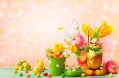 Decoración del día de fiesta de Pascua Imagen de archivo libre de regalías
