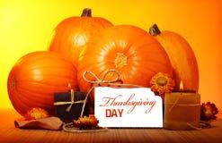 Decoración del día de la acción de gracias Fotografía de archivo