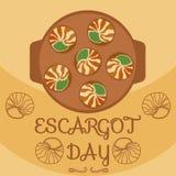 Decoración del día del caracol Imagen de archivo libre de regalías